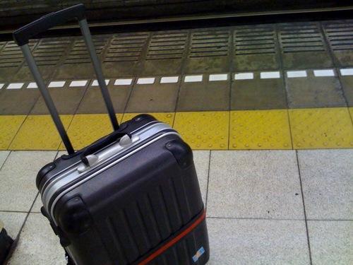親のスーツケースです