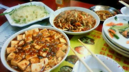 上海で中華料理
